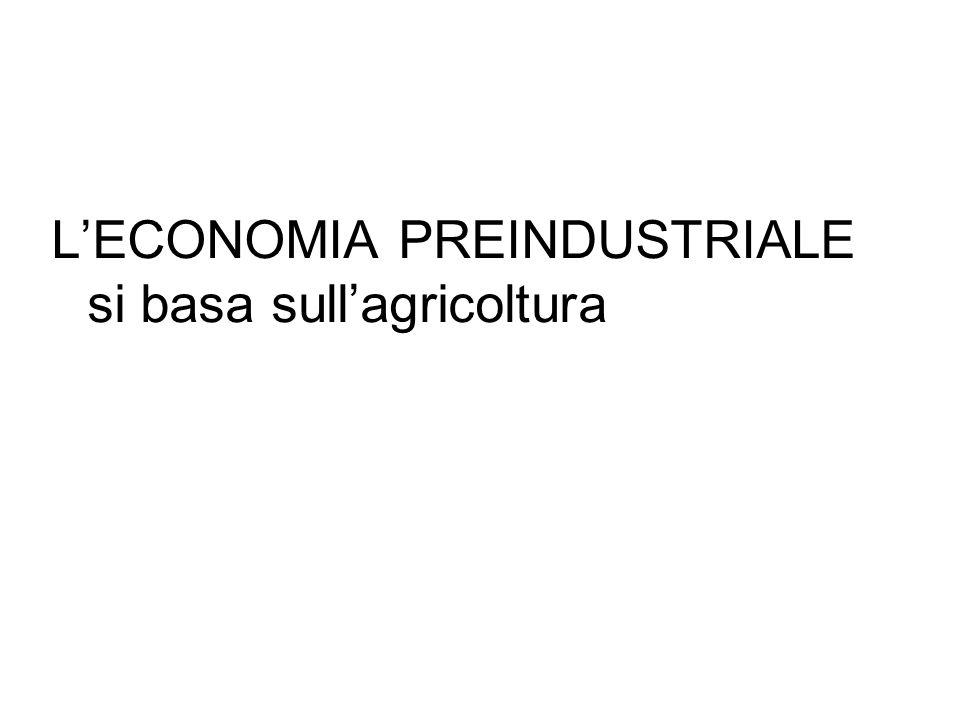 LECONOMIA PREINDUSTRIALE si basa sullagricoltura