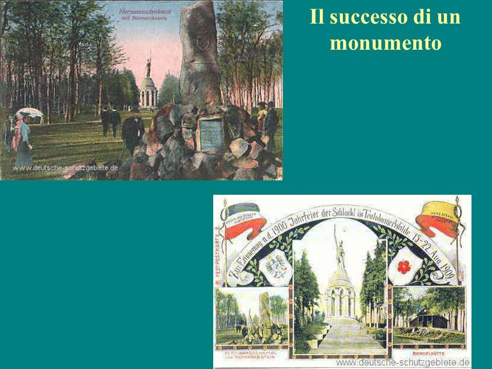 Il monumento alla battaglia dei popoli (1894-1913) Fusione di elementi classici e germanici Nessuna personificazione della patria Monumento massiccio, simbolo della Germania guglielmina