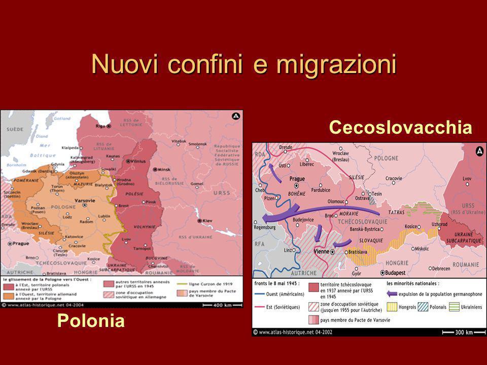 Nuovi confini e migrazioni Polonia Cecoslovacchia