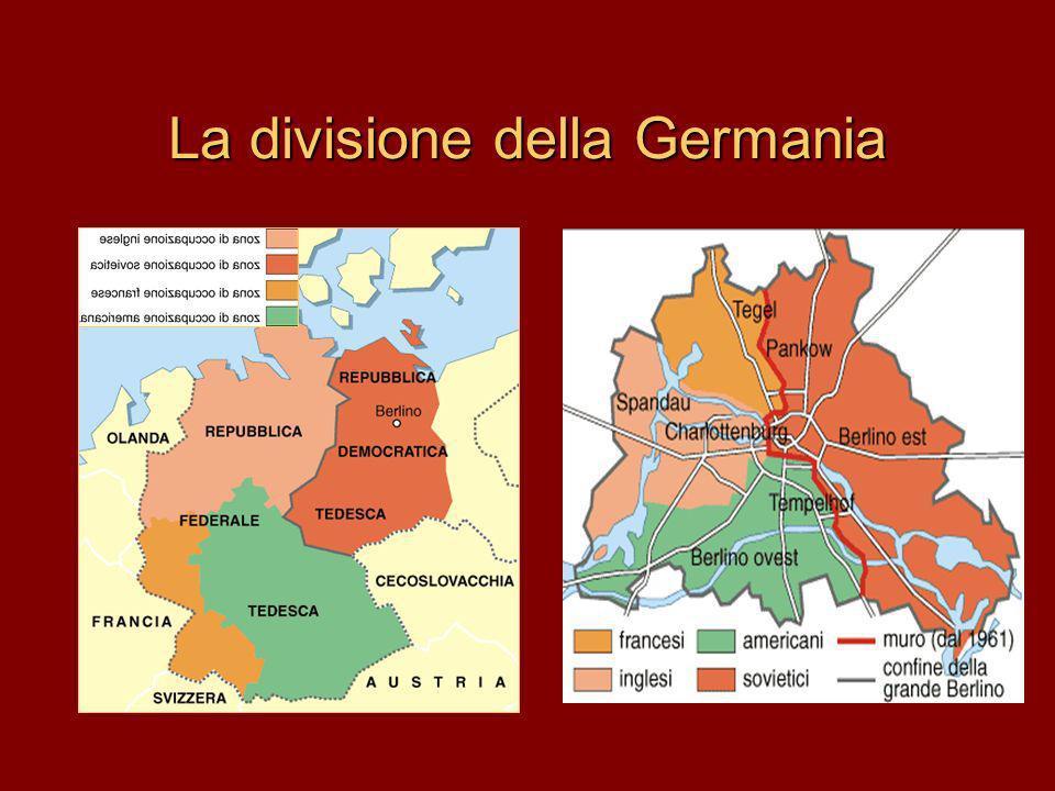La divisione della Germania
