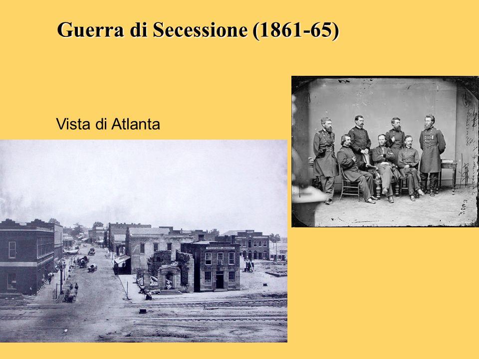 Guerra di Secessione (1861-65) Vista di Atlanta