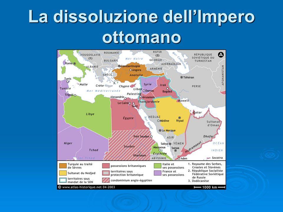 La dissoluzione dellImpero ottomano