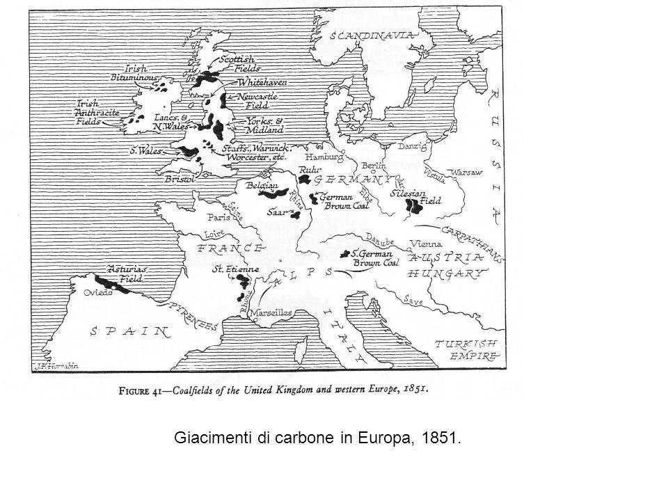 Giacimenti di carbone e di minerali metallici nel Regno Unito, 1851