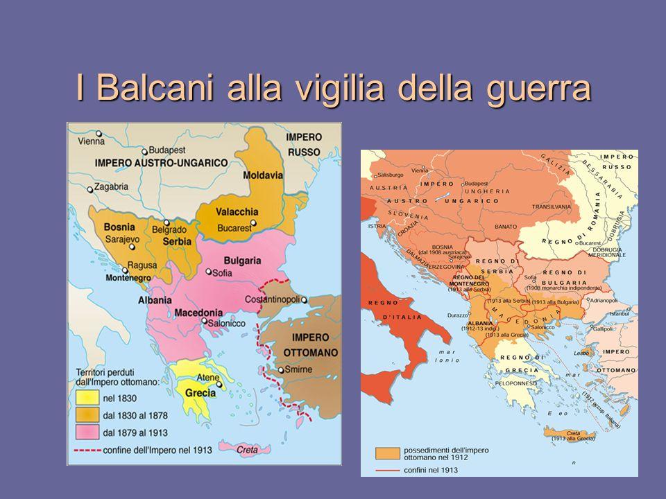I Balcani alla vigilia della guerra