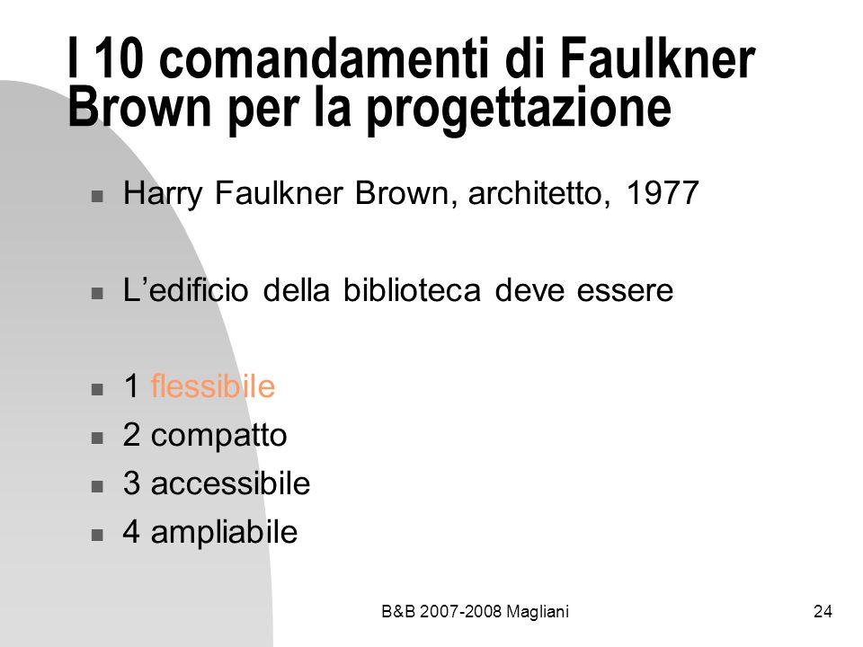 B&B 2007-2008 Magliani24 I 10 comandamenti di Faulkner Brown per la progettazione Harry Faulkner Brown, architetto, 1977 Ledificio della biblioteca de