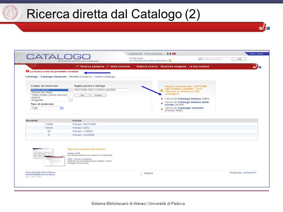 Sistema Bibliotecario di Ateneo | Università di Padova Ricerca base (1) La ricerca base è la più utilizzata e permette la ricerca combinata su tre campi: titolo autore soggetto La ricerca può essere filtrata per data