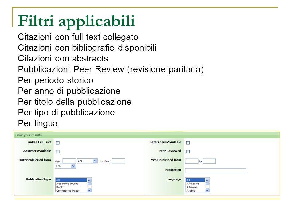 Filtri applicabili Citazioni con full text collegato Citazioni con bibliografie disponibili Citazioni con abstracts Pubblicazioni Peer Review (revisio