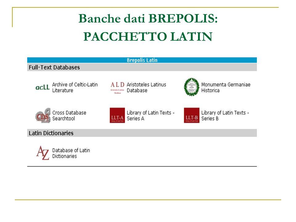 Banche dati BREPOLIS: PACCHETTO LATIN
