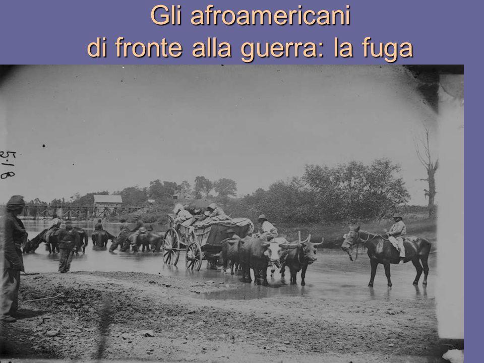 Gli afroamericani di fronte alla guerra: la fuga