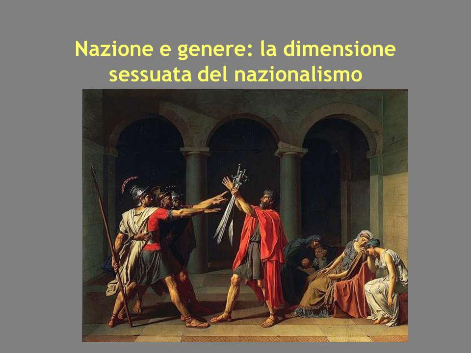 Nazione e genere: la dimensione sessuata del nazionalismo