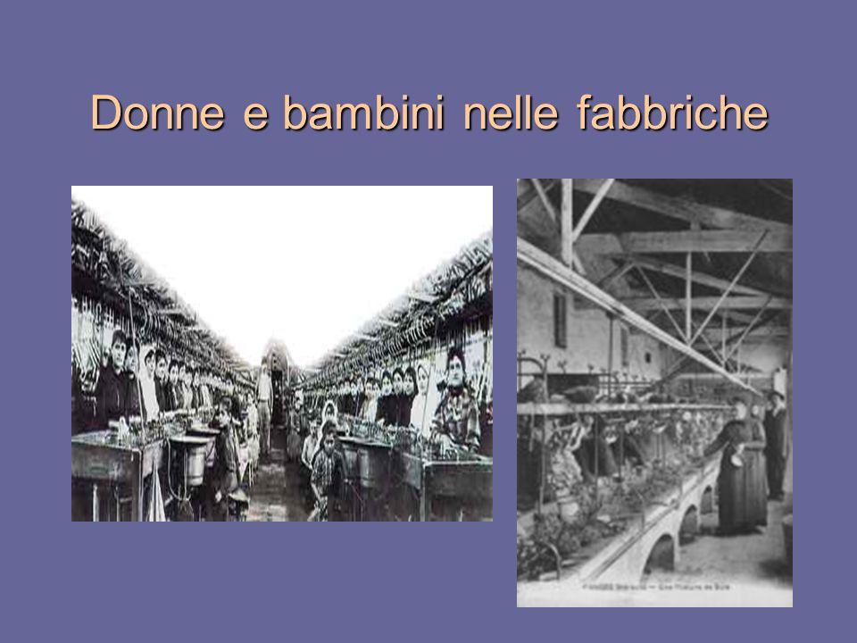 Donne e bambini nelle fabbriche
