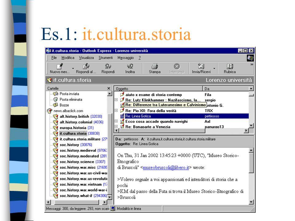 Es.1: it.cultura.storia