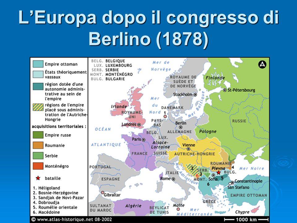 LEuropa dopo il congresso di Berlino (1878)