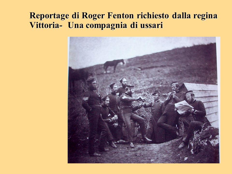 Reportage di Roger Fenton richiesto dalla regina Vittoria- Una compagnia di ussari