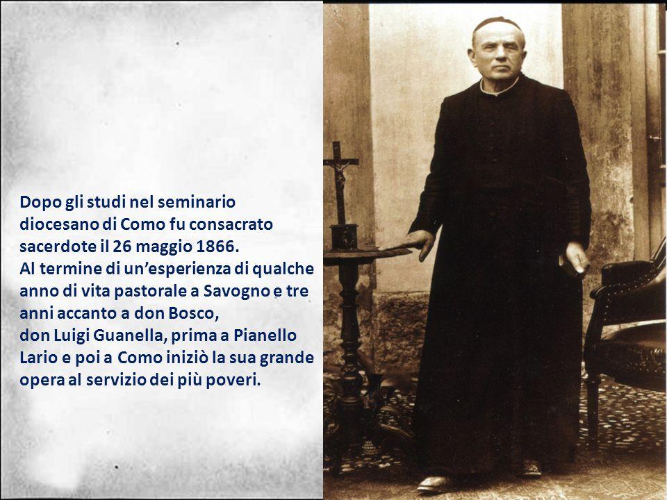 Dopo gli studi nel seminario diocesano di Como fu consacrato sacerdote il 26 maggio 1866.