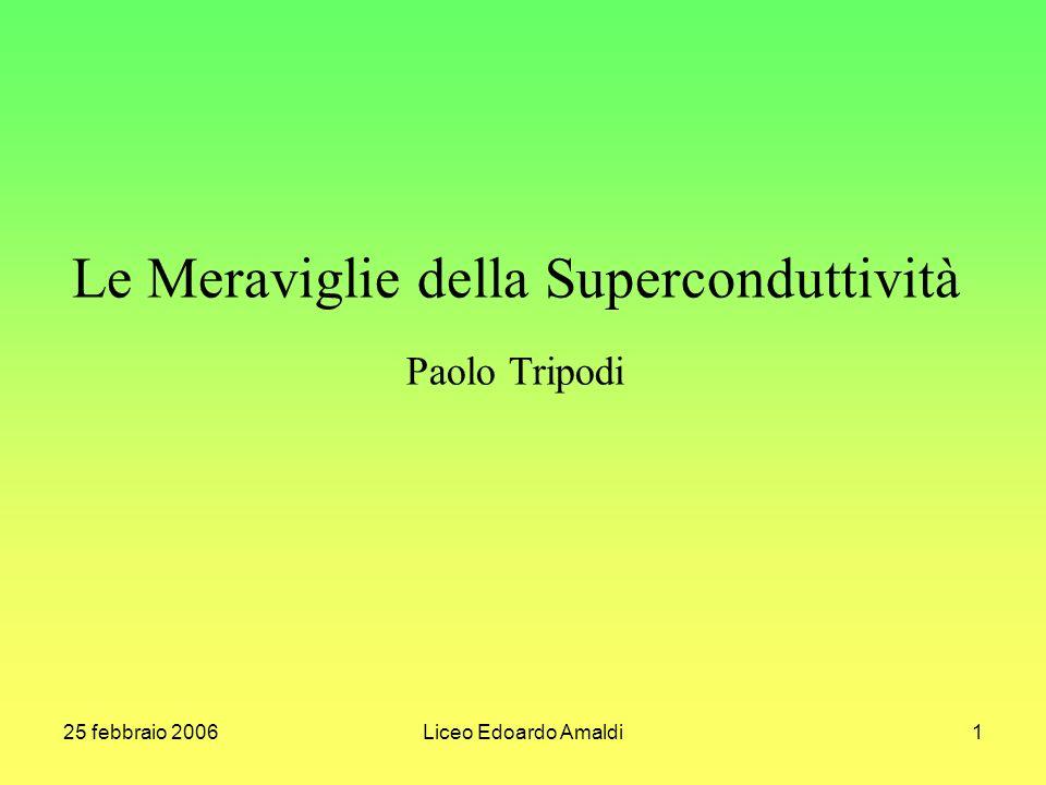 25 febbraio 2006Liceo Edoardo Amaldi1 Le Meraviglie della Superconduttività Paolo Tripodi