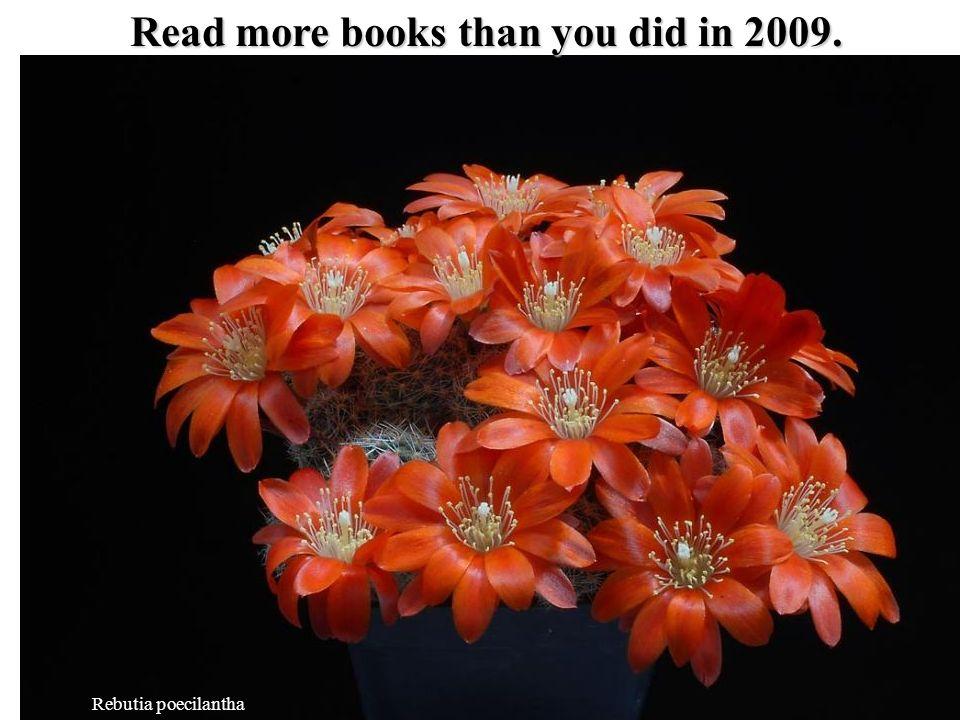Rebutia poecilantha Read more books than you did in 2009.