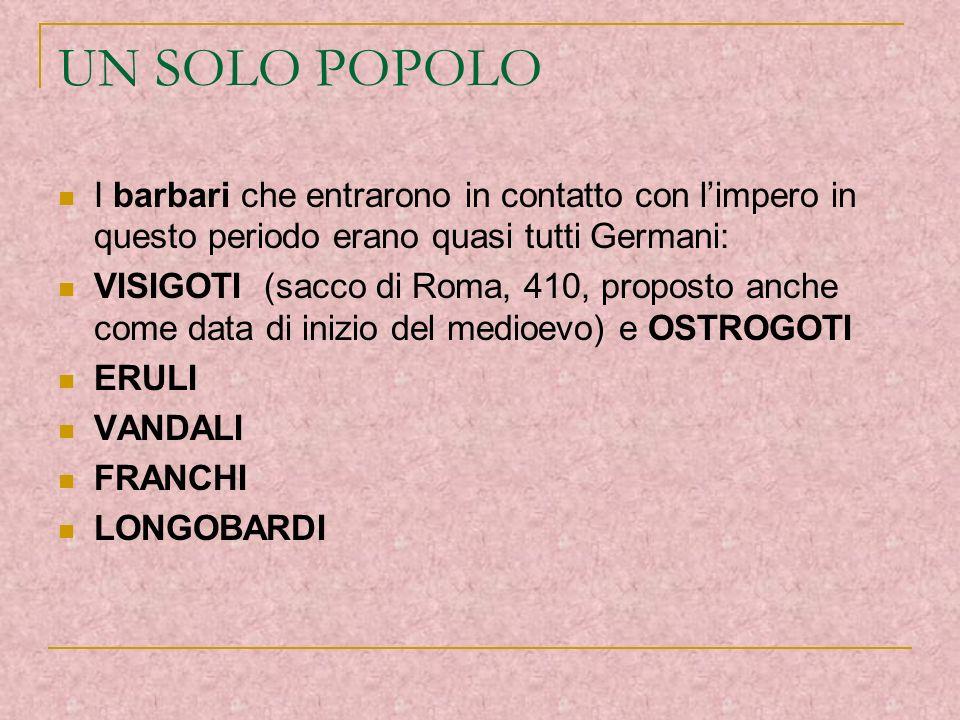 REGNI ROMANO-BARBARICI Si formarono i Regni romano-barbarici (cfr cartina pag.