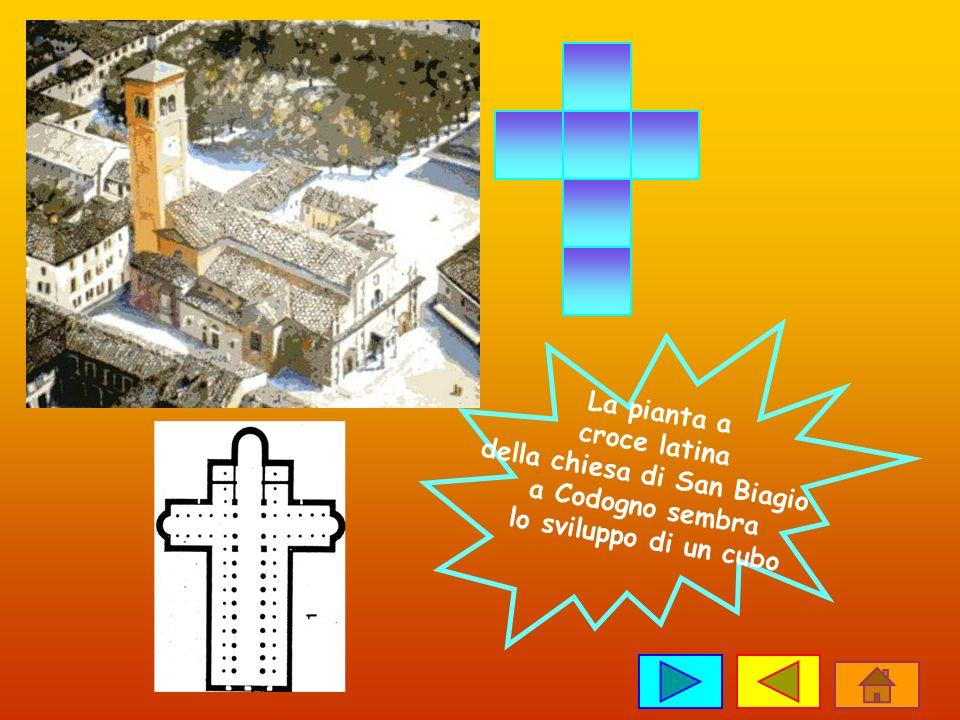 La pianta a croce latina della chiesa di San Biagio a Codogno sembra lo sviluppo di un cubo