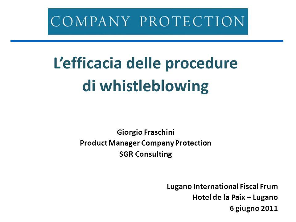 Contesto normativo ITALIA Nessuna legge specifica ODV 231 Testo Unico Sicurezza Parere positivo del Garante per la Protezione dei Dati Personali Attuazione Sarbanes-Oxley Act