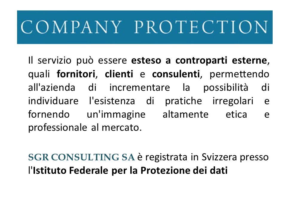 Il servizio può essere esteso a controparti esterne, quali fornitori, clienti e consulenti, permettendo all'azienda di incrementare la possibilità di