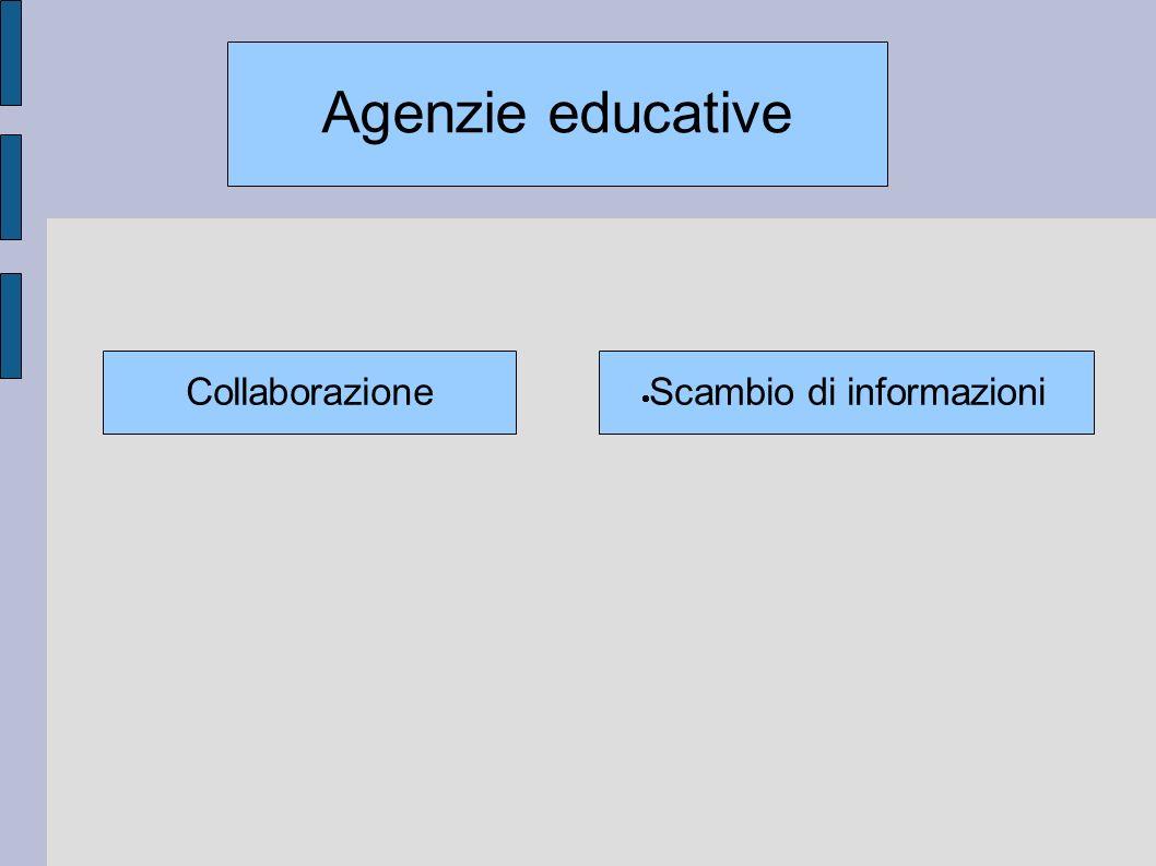 Scambio di informazioni Agenzie educative Collaborazione