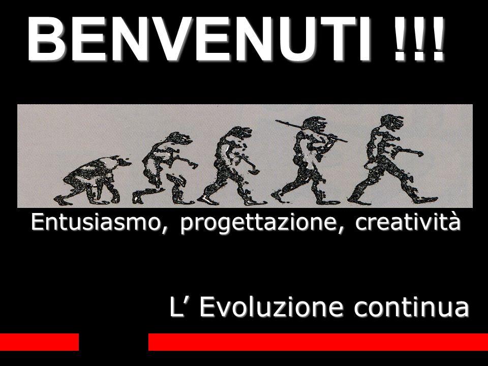 Entusiasmo, progettazione, creatività L Evoluzione continua BENVENUTI !!!