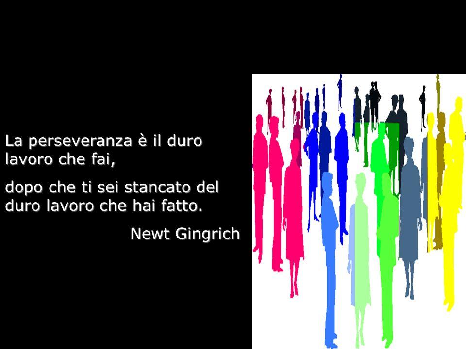 La perseveranza è il duro lavoro che fai, dopo che ti sei stancato del duro lavoro che hai fatto. Newt Gingrich