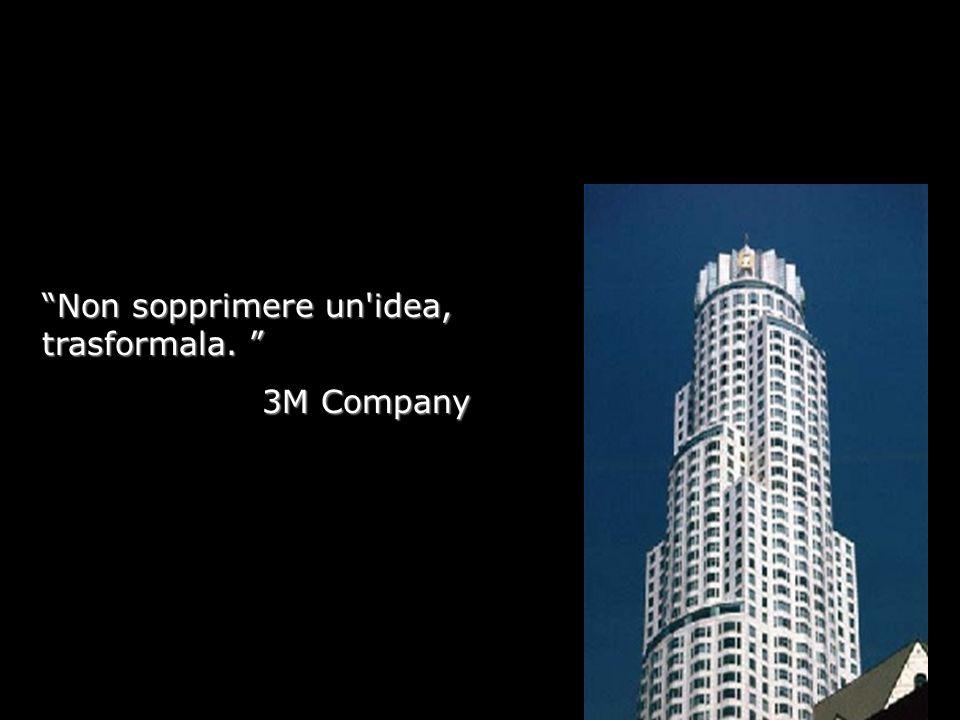 Non sopprimere un idea, trasformala. Non sopprimere un idea, trasformala. 3M Company