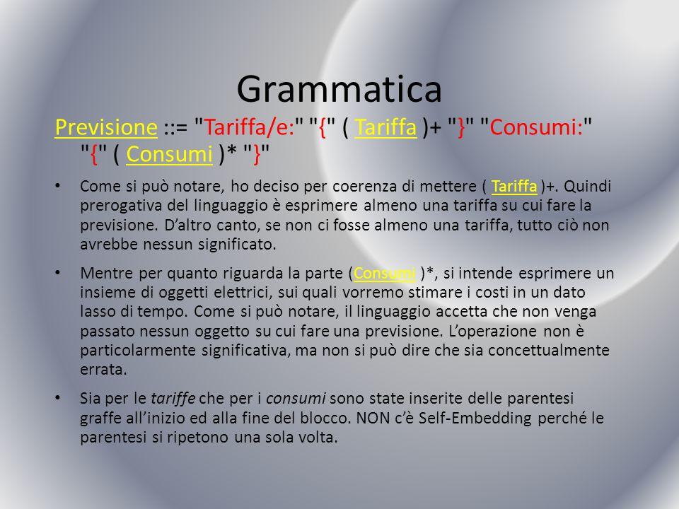 Grammatica Previsione ::=