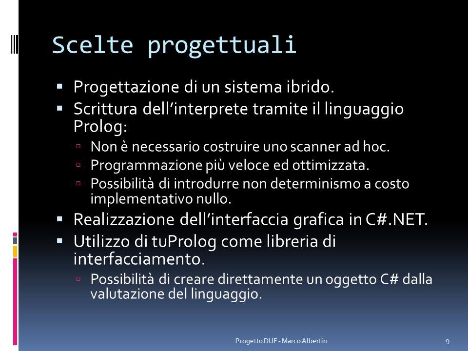 Scelte progettuali Necessità: rendere possibile la creazione e la gestione di più configurazioni di promemoria (Agenda) persistenti.