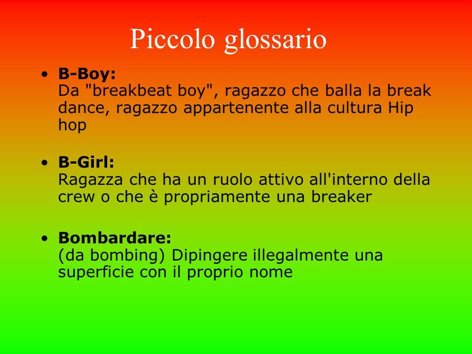 Piccolo glossario B-Boy: Da