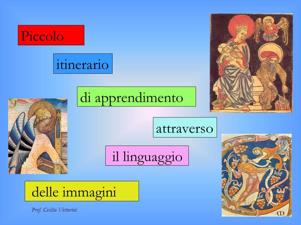 itinerario Piccolo di apprendimento attraverso il linguaggio Prof. Cecilia Vetturini delle immagini