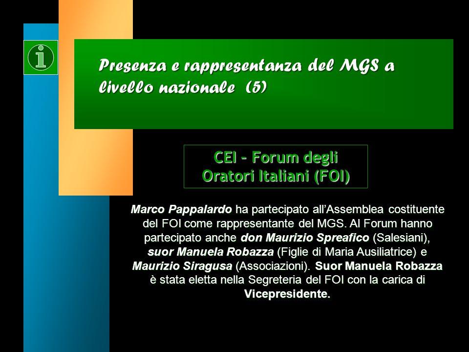 Presenza e rappresentanza del MGS a livello nazionale (4) Gianmarco Proietti è entrato a far parte della Commissione Ambiente e salvaguardia del creat