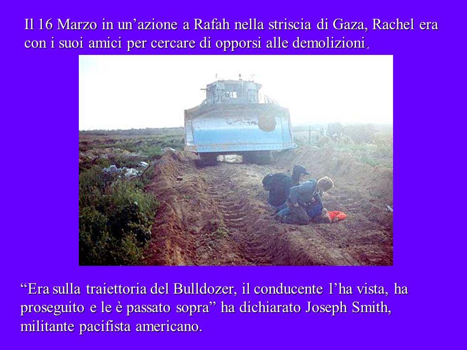 il bulldozer lha ricoperta di terra e poi lha schiacciata ha aggiunto Nicholas Dure, unaltro suo compagno