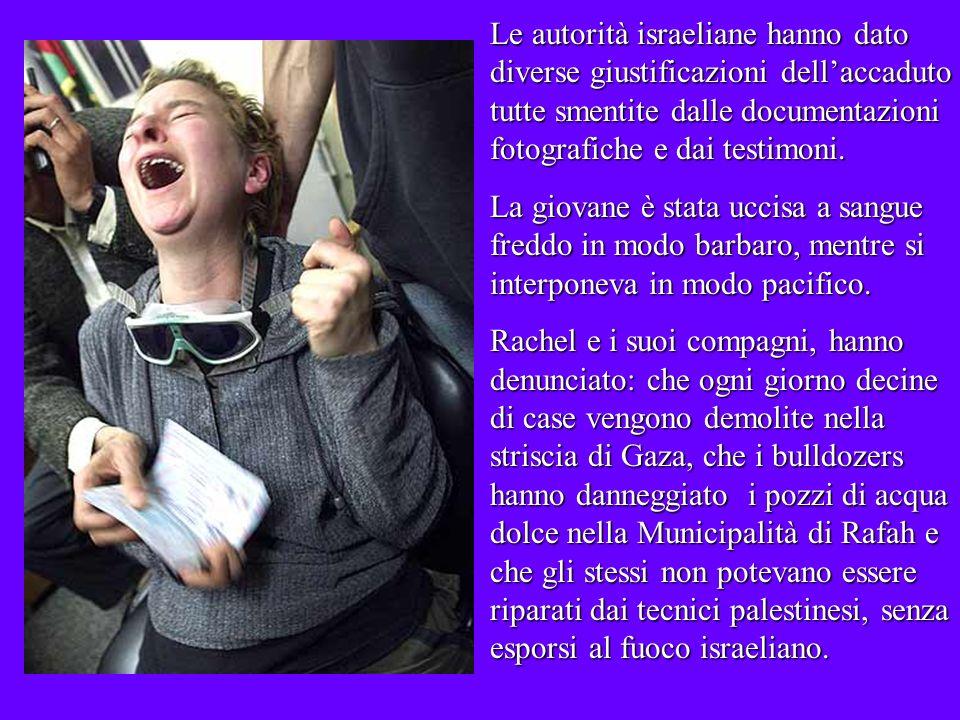 Molte sono state le iniziative per ricordare Rachel a Olympia (Washington), negli Stati Uniti e nei territori palestinesi occupati Molte sono state le iniziative per ricordare Rachel a Olympia (Washington), negli Stati Uniti e nei territori palestinesi occupati.
