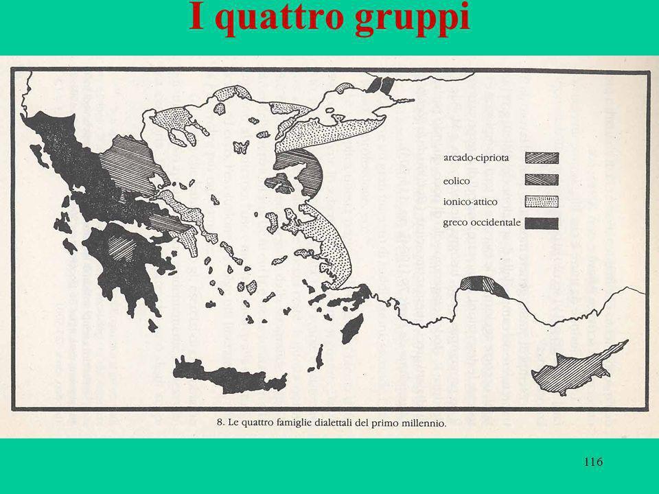 116 I quattro gruppi