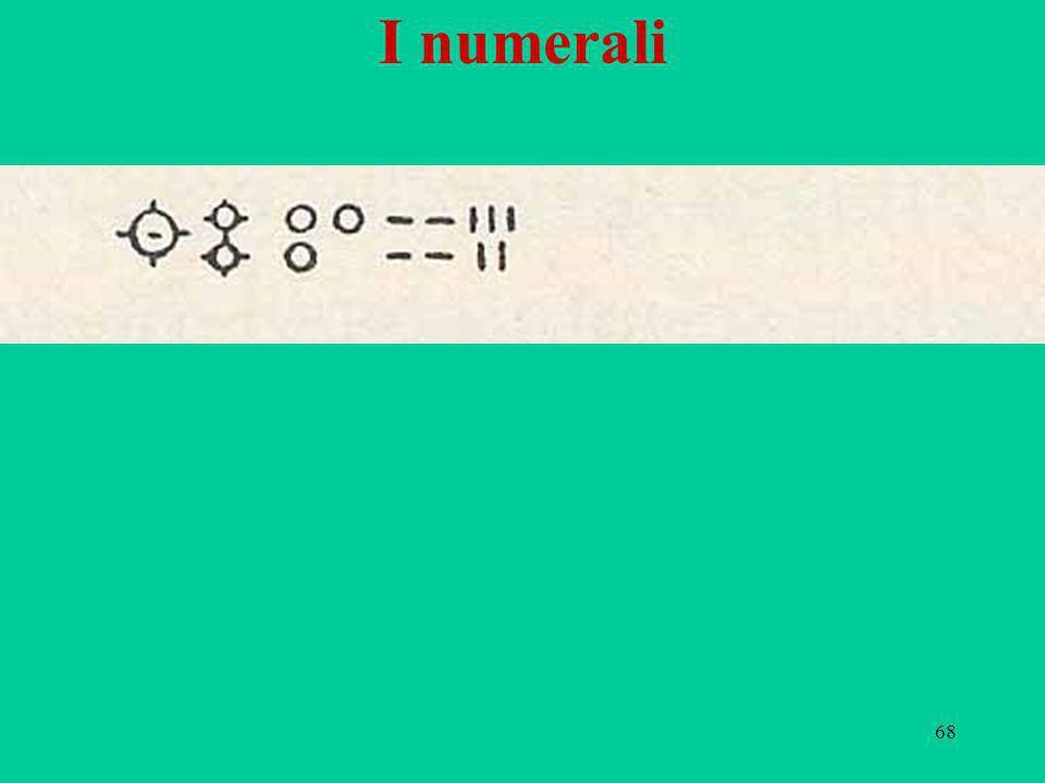 68 I numerali