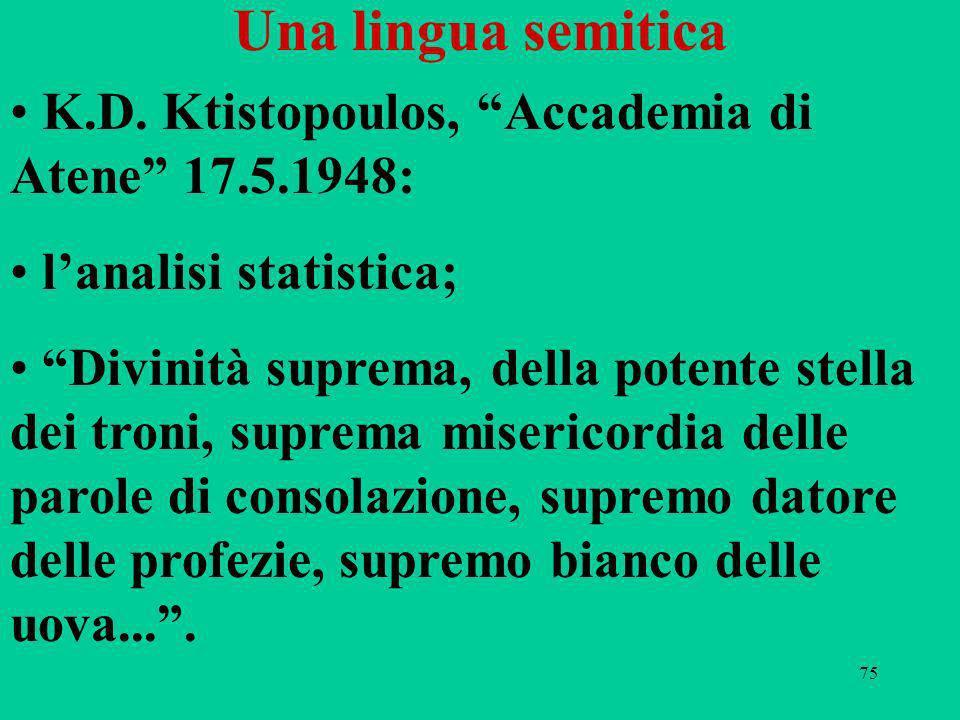 75 Una lingua semitica K.D.