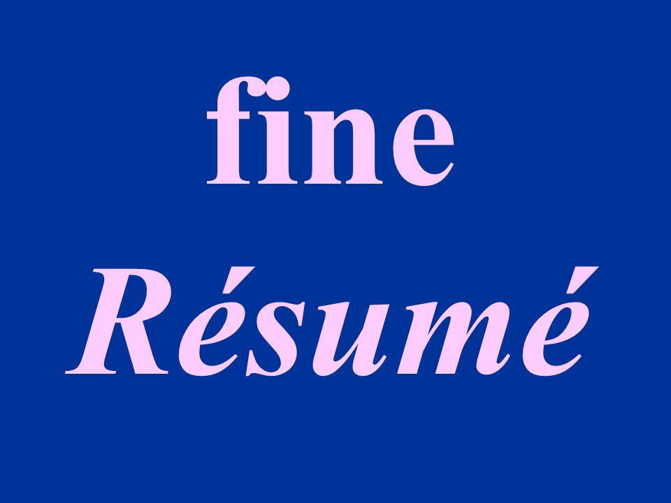 fine Résumé