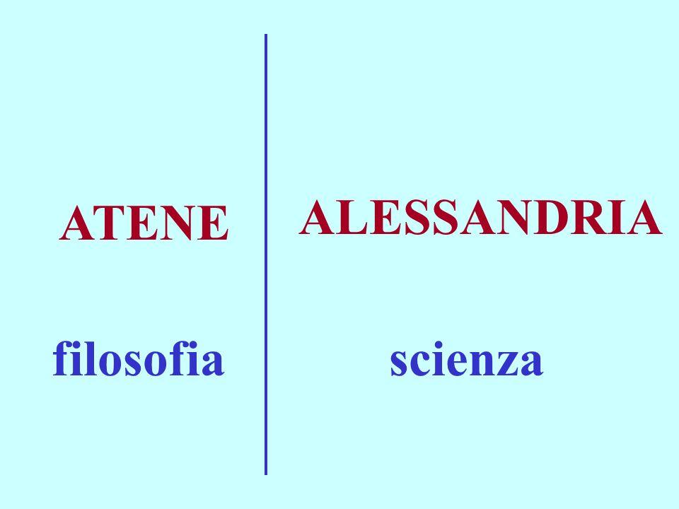 ATENE ALESSANDRIA filosofiascienza