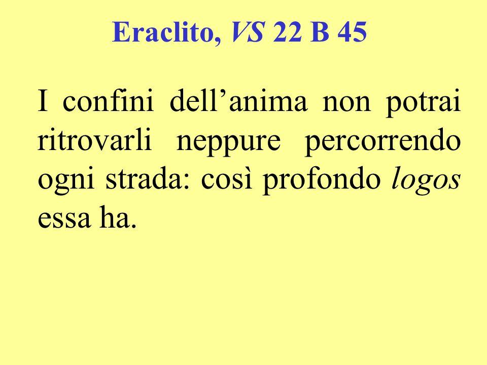 Eraclito, VS 22 B 12, 36, 117, 118 Poiché voleva mostrare (scil.