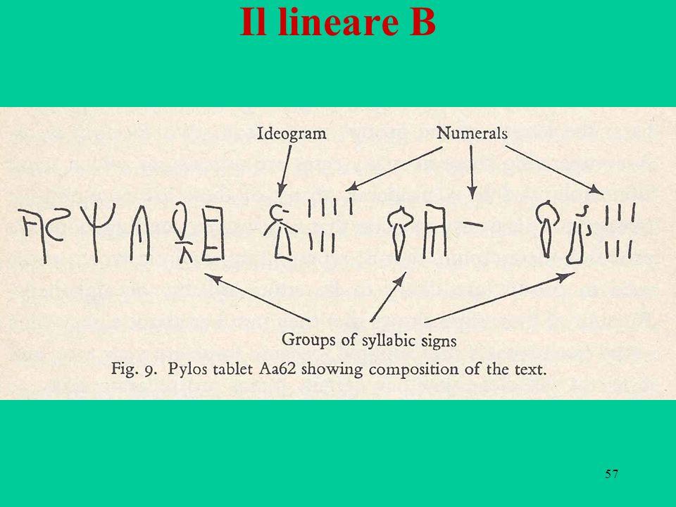57 Il lineare B
