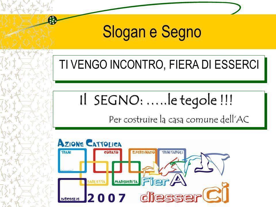 Slogan e Segno TI VENGO INCONTRO, FIERA DI ESSERCI Il SEGNO: …..le tegole !!.