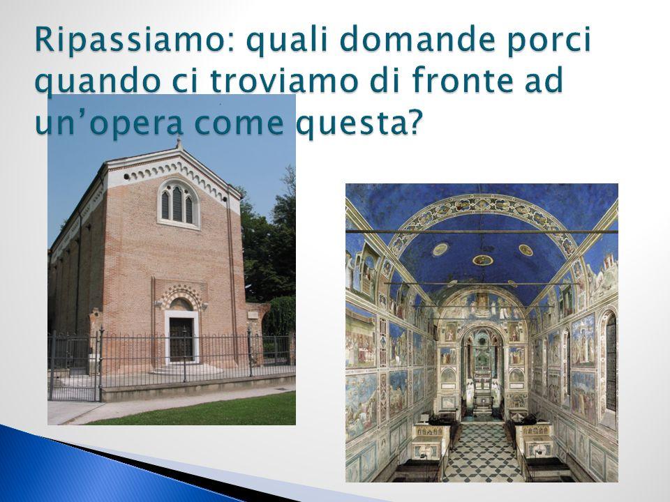 Si tratta di unopera di architettura, internamente interessata da un grande ciclo di affreschi; È unopera di architettura, ma soprattutto pittorica.
