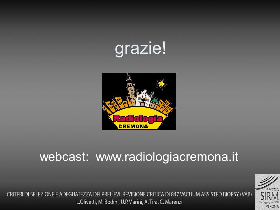 grazie! webcast: www.radiologiacremona.it
