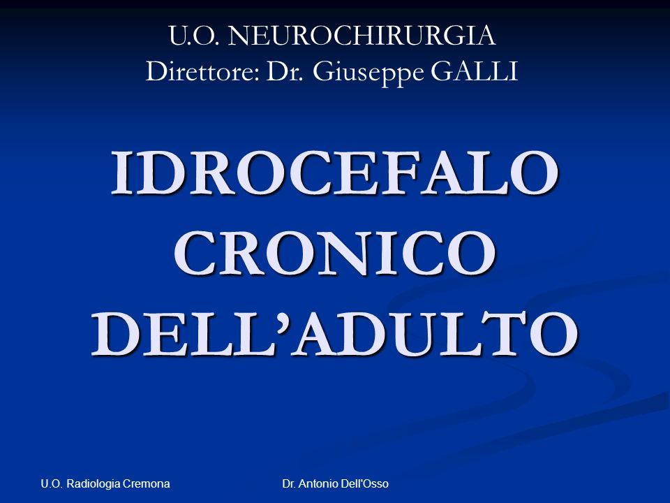 U.O. Radiologia Cremona Dr. Antonio Dell'Osso IDROCEFALO CRONICO DELLADULTO U.O. NEUROCHIRURGIA Direttore: Dr. Giuseppe GALLI