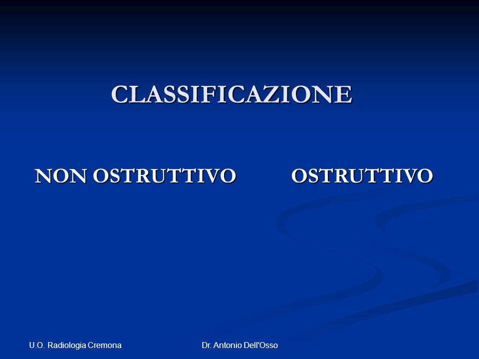 U.O. Radiologia Cremona Dr. Antonio Dell'Osso CLASSIFICAZIONE NON OSTRUTTIVO OSTRUTTIVO