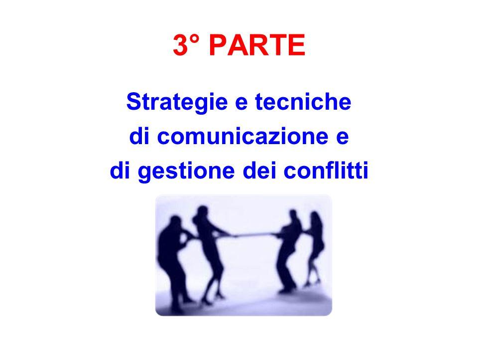 3° PARTE Strategie e tecniche di comunicazione e di gestione dei conflitti