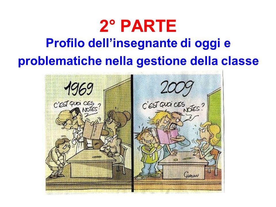 2° PARTE Profilo dellinsegnante di oggi e problematiche nella gestione della classe